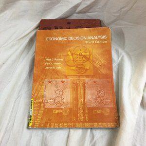 Economic Decision Analysis Third Edition Paperback